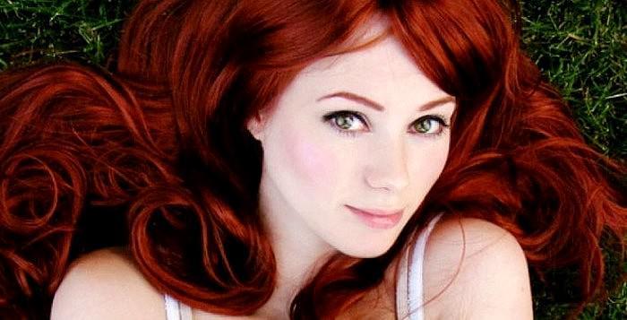 Насыщенные рыжие волосы фото