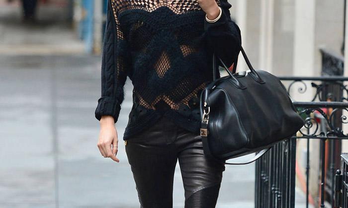 Кожаные брюки: дерзко и экстравагантно
