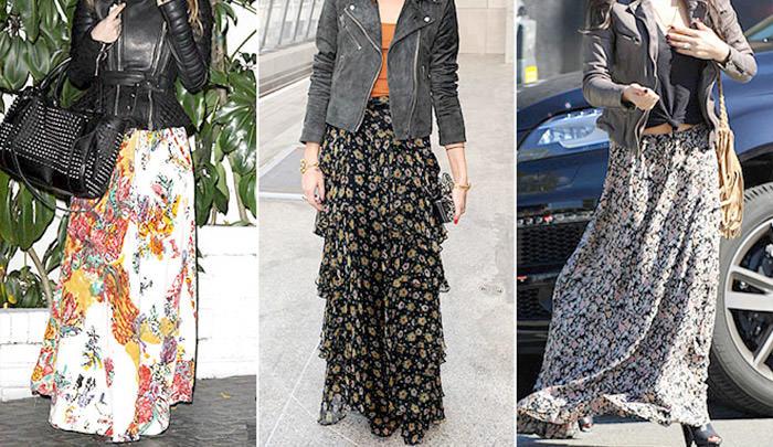Длинная юбка. Идеи для летнего образа