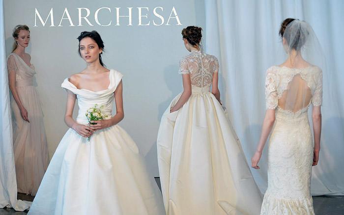 Роскошная свадебная коллекция Marchesa 2015. Утончённость классики