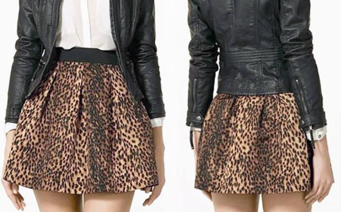 Леопардовая юбка. Шикарный вид и сексуальность