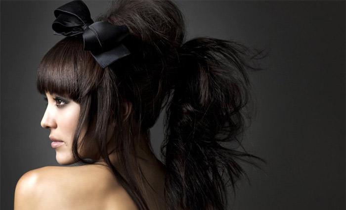 Шикарная причёска с начёсом своими руками